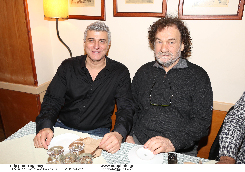 Ο Βλαδίμηρος Κυριακίδης με τον Μάρκο Ταγαρη θεατρικό παραγωγό